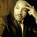 Martin Luther King Jr Artwork by Sheraz A
