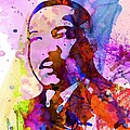 Martin Luther King Jr Watercolor by Naxart Studio