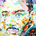 Martin Luther King Jr. - Watercolor Portrait by Fabrizio Cassetta