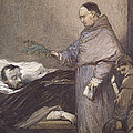 Martin Rithone Blessing The Body Of The Count Of Egmont Wc On Paper by Louis Gallait
