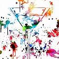 Martini Paint Splatter by Dan Sproul