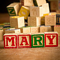 Mary - Alphabet Blocks by Edward Fielding