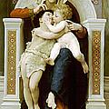 Mary Jesus And John The Baptist by Munir Alawi