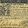 Maryland Bank Note, 1774 by Granger