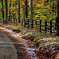 Maryland Country Roads - An Early Kiss Of Winter by Michael Mazaika