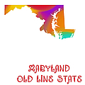 Maryland State Map Collection 2 by Andee Design