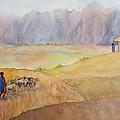 Masai Village by Patricia Beebe