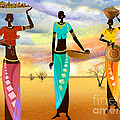 Masai Women Quest For Grains by Peter Awax