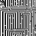 Mask Of The Maze  by Yonatan Frimer Maze Artist