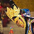 Masked Lama Performing Ritual Dance by Karma Ganzler