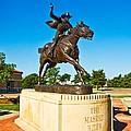 Masked Rider Statue by Mae Wertz