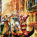 Masks Of Venice by Leonid Afremov