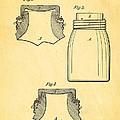 Mason Fruit Jar Patent Art 1870 by Ian Monk
