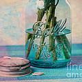 Mason Jar Vase by Kay Pickens