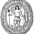 Massachusetts Bay Colonyseal, 1628 by Granger