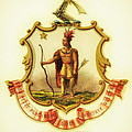 Massachusetts Coat Of Arms - 1876 by Mountain Dreams