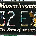 Massachusetts License Plate by Jeelan Clark