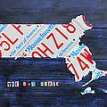 Massachusetts License Plate Map by Design Turnpike