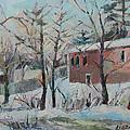 Massachusetts Snowfall by Linda Novick
