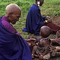 Massai Women And Child - Tanzania by Craig Lovell