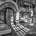 Master Bedroom At Fonthill Castlebw by Susan Candelario