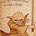 Master Yoda Wisdom by Georgeta  Blanaru