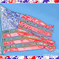 Matalic Flag by Debbie Portwood
