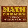 Math Problems Hotline Retro Humor Art Poster by Design Turnpike
