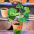 Matisse's Pot Of Geraniums by Cora Wandel