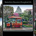Matterhorn Mountain Disneyland Collage by Thomas Woolworth
