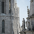 Matthias Church And Holy Trinity Column by Joan Carroll