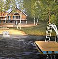 Matt's Cabin by Rick Huotari