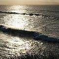 Maui Sunset Surfers by Angela Bushman