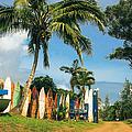 Maui Surfboard Fence - Peahi by Sharon Mau