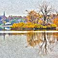 Maumee River Looking Toward Perrysburg by Jack Schultz