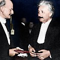 Max Planck And Albert Einstein by Science Photo Library