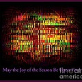 May The Joy Of The Season Be Upon You - Christmas Lights - Holiday And Christmas Card by Miriam Danar