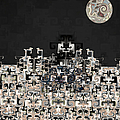 Mayan Temple Night by Kiki Art