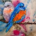 Maybe She's A Bluebird Cropped by Beverley Harper Tinsley