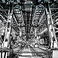 Maze Of Iron - Black And White by Anthony Doudt