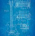 Mccarty Gibson Les Paul Guitar Patent Art 1955 Blueprint by Ian Monk