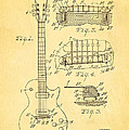 Mccarty Gibson Les Paul Guitar Patent Art 1955 by Ian Monk