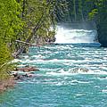 Mcdonald Creek Falls In Glacier Np-mt by Ruth Hager