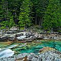 Mcdonald Creek In Glacier National Park by Mark Skalny
