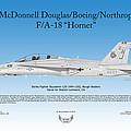 Mcdonnell Douglas Boeing Northrop Fa-18 Hornet by Arthur Eggers