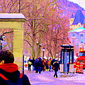 Mcgill Campus Eager Students Enter Roddick Gates Montreal Collectible Art Prints Carole Spandau  by Carole Spandau