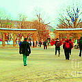 Mcgill Univ Students And Faculty College Campus Montreal Memories Collectible Art Prints C Spandau by Carole Spandau
