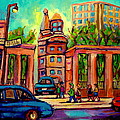 Mcgill University Roddick Gates Montreal by Carole Spandau