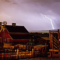 Mcintosh Farm Lightning Thunderstorm by James BO  Insogna