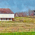 Mcpherson's Barn At Gettysburg National Military Park by Digital Photographic Arts